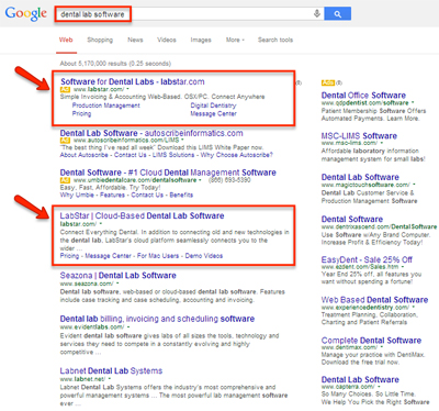 case study labstar organic search results