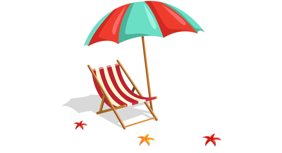landing page beach chair